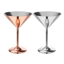pratos de festa Desconto 200 ml de aço inoxidável copo de martini de cobre banhado a taça de vinho cocktail de vidro do casamento do casamento do hotel bar do partido de casamento drinkware
