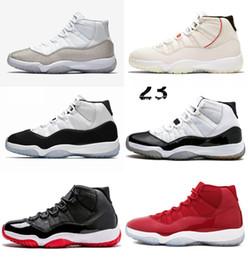 NIKE JORDAN Männer 11 11s Basketballschuhe Platinfarbton Concord 45 WIN LIKE 82 96 Space Jam Cap und Kleid Gamma Blue Schuhe mit Box