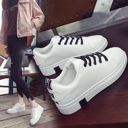 68091664860 2019 new spring wild foundation platform white board shoes Korean leather  casual shoes on sale