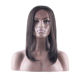 longo, reto, cabelo, lado, despedida Desconto Longa peruca de cabelo sintético Calor 26inch Resistente 2 # Brown Side Parte Lace frontais Glueless Lace Wigs frontal para mulheres com cabelo do bebê
