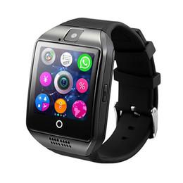 relojes inteligentes lemfo Rebajas LEMFO Bluetooth Smart Watch Men Q18 con pantalla táctil y soporte de batería grande TF Tarjeta de la cámara Sim para Android Teléfono Smartwatch