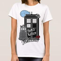 Camiseta Who 'Bad Wolf Fantastic' de Doctor Who, todos los tamaños para mujer, tamaño Discout, camiseta New Hot, camiseta con estampado Jersey desde fabricantes