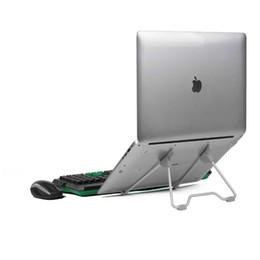 Deutschland Klappbarer tragbarer Laptopständer Betrachtungswinkel / Höhenverstellbare Qualität Aluminiumlegierung Halterung Unterstützung 10-17 Zoll Notebook Versorgung