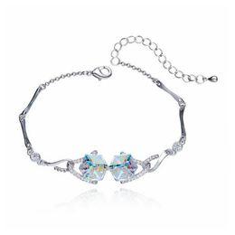 2019 swarovski charme armbänder Europäischer und amerikanischer Sugar Magic Cube Kristallarmband Bangles Crystal aus Swarovski Electroplating Platin günstig swarovski charme armbänder