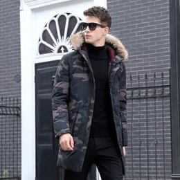 2019 pellicce di porcellana Top Goose Winter Down Hooded Duck Down Jacket Camouflage Pattern Cina Canada US Uomo Donna Zippers Warm Outdoor Cappotti Animal Fur Collar