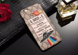 casi coniglietto iphone 5s Sconti Fashion spaceship print Designer Phone Case per iPhone X Xs Max XR 7 7plus 8 8plus 6 6s plus Marca Cover posteriore Custodie Custodia rigida