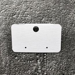 En gros 100 pcs nouvelle carte en plastique de PVC de boucle d'oreille blanche, carte d'emballage d'affichage de bijoux sans impression ? partir de fabricateur