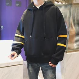 Hoodie masculino coreano on-line-Mens Fashion Hoodies mais espessas Pockets encapuçado morna Lazer ulzzang coreano estilo suave na moda Moletons Vestuário Masculino