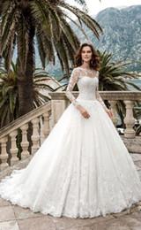 robes de mariée reine Promotion Reine Vestios De Novia A-ligne Robes De Mariée pure Robes De Mariée En Dentelle Corset Dos Vintage Blanc Robes De Mariée DH4021