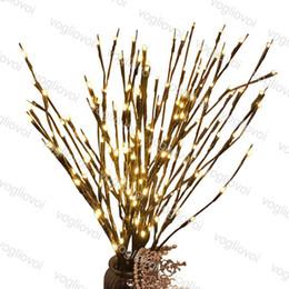 luce principale 3v Sconti Luci di Natale LED Willow Branch Lamp Luci floreali 20 Lampadine Natale Capodanno Party Uso AAA Batteria 3V LED String DHL