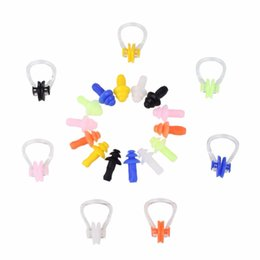 7 Colors Soft Silicone Anti-Water Earplugs Nose Clip Ear Plug Swimming Waterproof Kit Diving Case Set Useful от