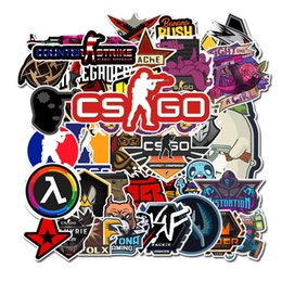 motorcycles games Promo Codes - 50 PCS Lot CS GO Stickers Motorcycle Anime Game Sticker For Boys Laptop Funny Graffiti Stickers Mix Retro Waterproof Pegatinas L