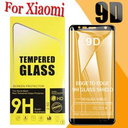 Proteggi schermo curvo in vetro temperato con copertura completa 9D per Xiaomi Mi 9 SE 8 Lite 6X F1 F2 Gioca trasparente anti-shock con scatola al dettaglio da