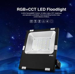 al por mayor reflectores de energía solar Rebajas MILIGHT alto brillo IP65 impermeable 30W CCT bluetooth de control de aplicaciones al aire libre AC86-265V RGB LED de luz de inundación