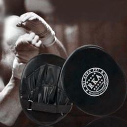 luvas de foco Desconto Luva de boxe Treinamento Foco Alvo Soco Pad Luva MMA Karate Combate Thai Kick