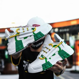 Yin schuhe online-Neue 2019 Sommermänner Schuhe atmungsaktiv koreanischen Art und Weise dk Yin Web-Berühmtheit beiläufig Muffin dad Stil Männer Schuhe