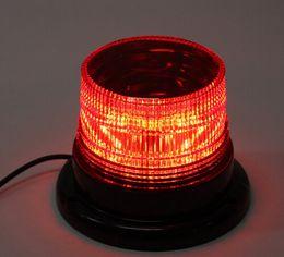 Balise stroboscopique d'urgence en Ligne-12V 10W LED de camion de voiture magnétique Avertissement Flash Light Beacon Strobe Lampe d'urgence Bleu Jaune Rouge