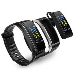2019 schrittzähler silber armbänder Bluetooth Headset Diskussion Smart-Band-Armband Herzfrequenzmonitor Sport Smart Watch Passometer Fitness Tracker Y3 und Farbbild-Armband i