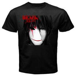 Cosplay negro mas oscuro online-Nuevo DARKER THAN NEGRO Anime Japón Cartoon Hombres camiseta negra Tamaño Discout Caliente Nueva camiseta Miedo cosplay Liverpoott camiseta