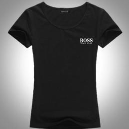 Langarm t-shirt wolle online-FRAUEN Freizeit T-Shirt Außenhandel Boutique Sommer Volle Watte Buchstaben T-Shirts Frauen lange Hülse freies Verschiffen