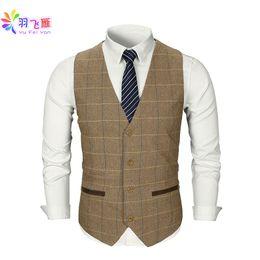 White Tuxedo Matching Pants Shirt In Desc Roblox - Smart Casual Men Vest Suit Brown Tweed Vest Slim Fit British Style Cotton Sing Breasted Plaid Wedding Dress Waistcoat Suit
