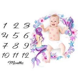Mantas únicas online-14 estilos Photo prop Manta Fotografía de bebé mantas hito recién nacido estera del bebé niñas niños regalo único LLA10