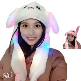 Accessoires 2019 Neue Mode Beweglichen Hut Glowing Kaninchen Ohren Plüsch Hut Süße Nette Airbag Kappe Für Mädchen 2 Farben Hüte & Mützen