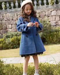casaco de lã e lã Desconto Meninas de inverno casaco de lã Outono Adolescentes Engrossar lã double-breasted longo casaco de lã meninas Crianças Casacos crianças jaqueta de inverno