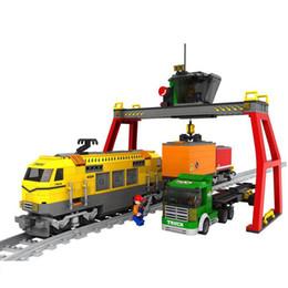 Canada AUSINI 25004 cadeau Building Block Set train Modèle Enlighten Construction Brique Jouet Éducatif Bricolage Briques Jouet pour Enfants Offre