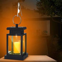 lanternas velas ao ar livre Desconto Lanterna de suspensão solar da vela ilumina a luz ao ar livre do efeito da vela com ganchos para a plataforma do gramado do pátio do jardim Barraca do guarda-chuva Jarda da árvore