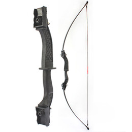 "composto arco carbono seta Desconto 50"" Black Archery Takedown arco recurvo Bow Double Arrow Riser Longbow Alvo do tiro exterior Caça 15 / £ 25 Beginner prática esportiva"