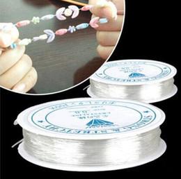 2019 flaches leder für schmuck großhandel 1 ROLLE 5M-24M (196-944 Zoll) Länge 0,4-1,0 mm Durchmesser Crystal Elastic Beading Cord String Gewinde für DIY Halskette Armband Schmuckherstellung