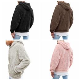 2020 homens inverno camisola pele Homens Sherpa pulôver Tops Outwear masculino com capuz bolso Hoodie Sweater Hip hop manga comprida camisola Mens Inverno Fur Fleece Outwear 3XL C92707 desconto homens inverno camisola pele