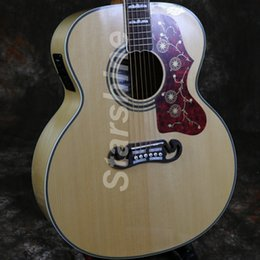 2019 chitarra jumbo palissandro Chitarra acustica elettrica Starshine ZZ-DJ20 Jumbo Body 43 Grover a forma di dado e sella per chitarra chitarra jumbo palissandro economici