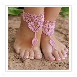 schuhe füße sexy sandalen Rabatt Hochzeitsschmuck Häkeln Hochzeit Barfuß Sandalen Strand Pool Nude Schuhe Yoga Ketten Fuß Fußkettchen Braut Spitze Schuhe Sexy Fußkettchen