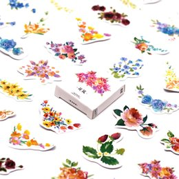 Canada LOLEDE New 45pcs / set Couleur Fleur Washi Bande Décorer Papeterie Japonaise Fournitures De Scrapbooking Autocollants Bureau Ruban Adhésif 2016 supplier decorate tape Offre
