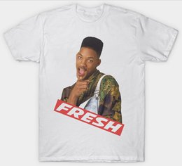 prince tees Promo Codes - FRESH PRINCE OF BEL AIR T SHIRT TOP WILL SMITH 90's Tees Custom Jersey t shirt Classic Quality High t-shirt
