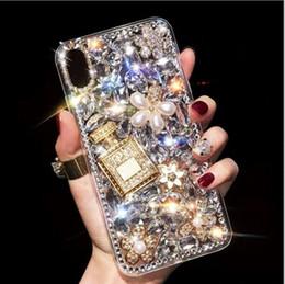 Diamante caso telefone diy on-line-Luxo strass phone case diamante cheio garrafa de perfume diy casos capa para iphonexs xr max samsung s10 s9 s8 além de note8 note9