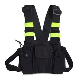 vest hunting Coupons - Outdoor Hunting Vest Chest Bag Radio Chest Pouch Pack Holder Carrying Case Reflective Apparel Hunting Wear