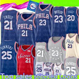 018ddad10a71 76ers joel 21 ans Jimmy 23 Jersey Butler Ben 25 Simmons Philadelphie 76er  Basketball JJ 17 Redick Markelle 20 Maillots Fultz