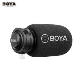 2019 micrófono boya BOYA BY-DM100 Micrófono de condensador cardioide estéreo digital Sonido excelente para dispositivos Android USB tipo C Grabación micrófono boya baratos