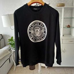 Designer uomo montato hoodies online-Balmain Hoodie Designer Hoodie Balmain Uomo Donna Pullover Loose Fit manica lunga Luxury Mens Designer Maglioni Taglia S-XL