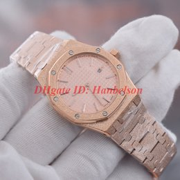 Moda fosco relógios de senhora de ouro 67653OR movimento de quartzo rosa de ouro Rose disque montres de luxe pour femmes 33mm mulher designer relógios de pulso de
