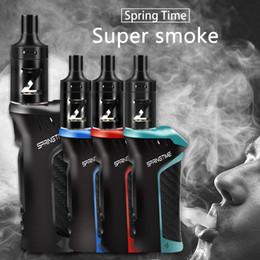 modos de caixa de comparação Desconto E-cigarro primavera tempo de energia 20 w-100 w 18650 mah cigarros eletrônicos caixa de caneta vape mod kit hookah vaper 0.5ohm 2.5 ml atomizador