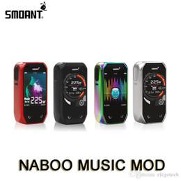2019 cloupor vape Smoant Naboo 225W Mod Box avec bouton tactile 2.4inch Écran coloré Mode musique Alimentation par double batterie 18650 100% authentique E-Cigarette