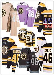Boston Bruins jerseys  46 David Krejci jersey hockey team men women white  black drift Authentic winter classic Stiched CCM Jersey 231dafd1b