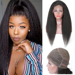 Настоящие человеческие волосы для черных женщин онлайн-настоящие волосы париков курчавых прямые 360 полных париков шнурка человеческих волос для черных женщин бразильского Kinky прямых 360 кружева лобные париков