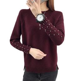 Argentina Nuevas mujeres rebordear suéter de manga raglán otoño cálido casual tejer suéteres coreano de las mujeres elegantes suéter o cuello suéteres F6 supplier raglan sleeve sweaters women Suministro