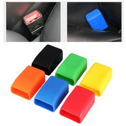 Car Safety Seat Belt Buckle Rubber Protective Cover Anti Scratch Dust Prevention