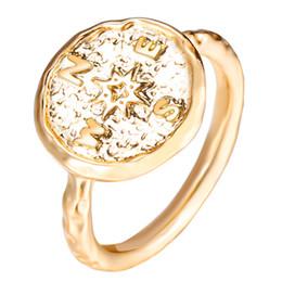 meninas ouro dedo anel de moda Desconto SE VOCÊ Vintage Cor De Ouro Boho Graduação Anéis Menina Mulheres Homens Moda Anel de Dedo Declaração de Viagem Direção Jóias 2019 Novo